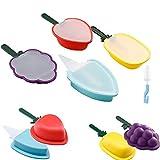 Olywee Molde para Helados,Reutilizable Moldes Silicona, Juego de moldes para paletas de silicona de frutas, 4 piezas, sin BPA y aprobado por la FDA