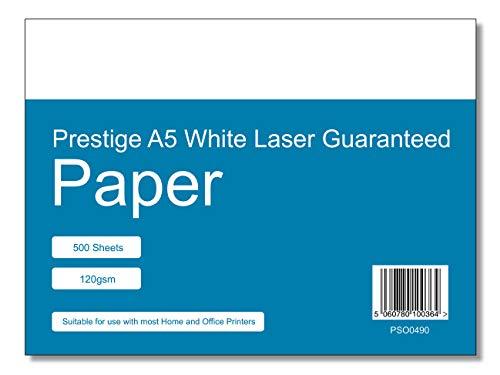 Prestige Premium A5 Office Printing Paper 500 Sheets - 120gsm - Laser Inkjet White Paper