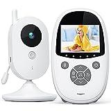 Babyphone Moniteur vidéo pour bébé avec écran de 2,4 Pouces, Audio bidirectionnel, Vision Nocturne, Lecteur de Berceuse, idéal pour Les Nouveaux Parents