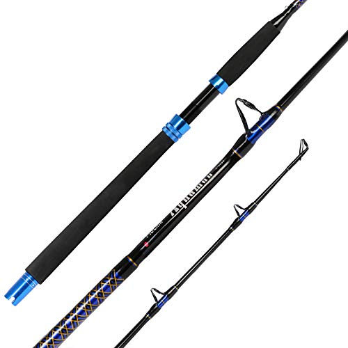 Fiblink 1-Piece Conventional Boat Rod Saltwater Offshore Graphite Casting Fishing Rod(6-Feet, 30-50lb 50-80lb) (50-80-Pound)
