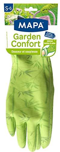 Mapa Garden Komfort Gartenhandschuh aus Latex, innen Bambus und Baumwolle, weich und saugfähig, Größe 6/S
