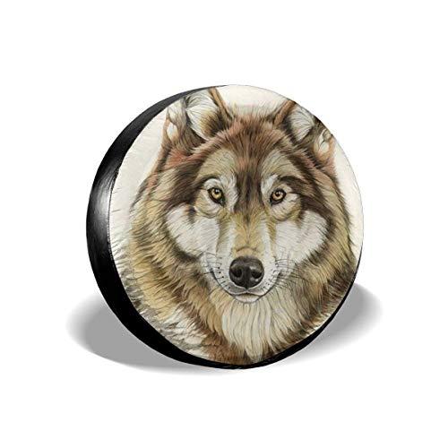 Hokdny Cubierta de neumático de Repuesto con Estampado de Cabeza de Lobo para Remolque RV Scamp, etc.