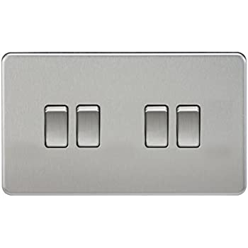 Knightsbridge 10A 10 Amp 3G 3 Gang 2 Way Screwless Single Light Lamp Switch