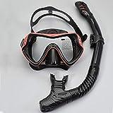 JIAAN Máscara de Buceo Máscara Snorkel Máscara Conjunto de Snorkel de - Gafas de Buceo y Snorkel para Buceo - máscara de Buceo para niños y Adultos (2 Partes - Snorkel + máscara de Buceo)