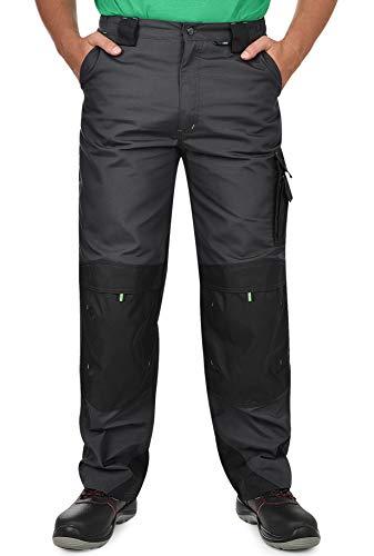 BWOLF Brave Pantaloni da Lavoro Uomo - Pantaloni Lavoro Tasche Laterali Multifunzionali, Posteriori e Rinforzati con Poliestere Oxford 600D Grigio/Verde. XL