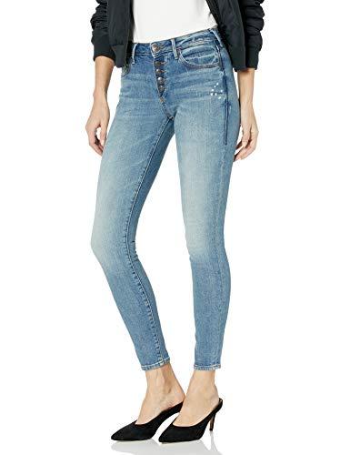 True Religion Women's Jennie Mid Rise Curvy Skinny Jean, Ojai Fields, 32