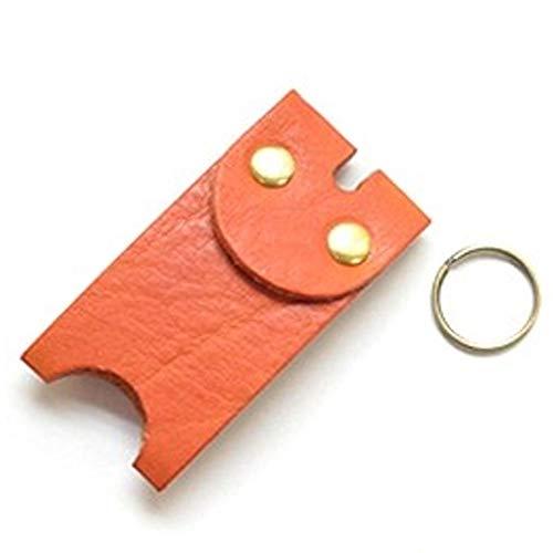キーカバー 栃木レザー 本革 メンズ レディース フルカバー キーパー 鍵カバー ヴォーノオイルレザー (オレンジ)