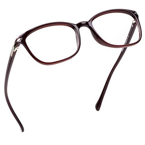 LifeArt Blaulicht-Schutzbrillen, Computer-Lesebrillen, Spielbrillen, TV-Brillen für Frauen, Männer, Blendschutz(Dunkelrot, Nein Vergrößerung)