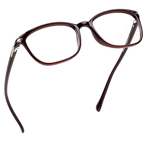 LifeArt Blue Light Blocking Glasses, Anti Eyestrain, Computer Reading Glasses, Gaming Glasses, TV Glasses for Women Men, Anti UV, Anti Glare (Red, No Magnification)