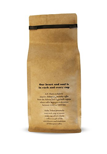 Yirgacheffe Ethiopian Coffee ~ all natural ~ Arabica bean ~ Whole bean ~ Medium Roast