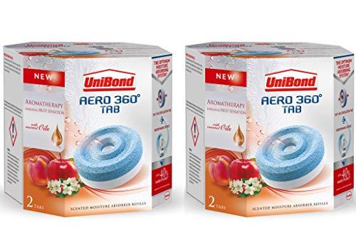 Unibond Aero 360º Aromatherapy Fruit Sensation Refill Tabs (4 x 450 g, Fruit Sensation)