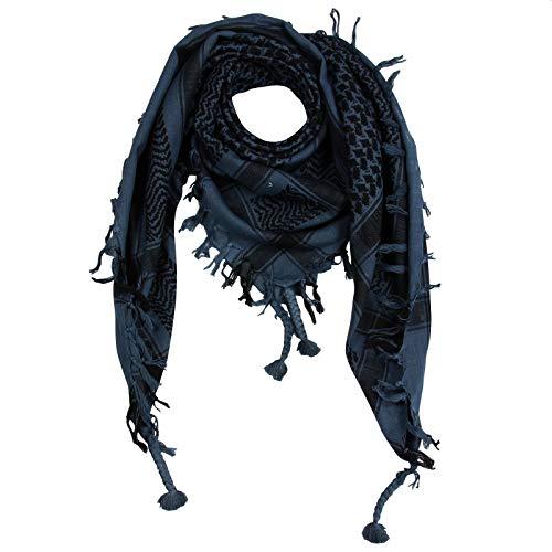 Superfreak Palituch - grau-blau dunkel - schwarz - 100x100 cm - Pali Palästinenser Arafat Tuch - 100% Baumwolle