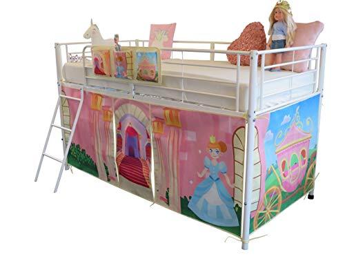 HedgehogEmporium Midsleeper Tent and storage Pocket for Cabin Bed, Mid sleeper, Cinderella, Fairy tale