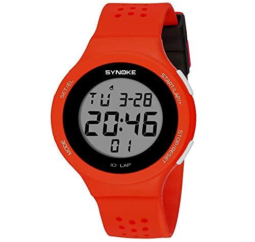 MNBVC Reloj Digital para Mujer, Ultrafino, Multifuncional, LED, natación, Impermeable, Resistente a roturas, luz de Fondo, Reloj Deportivo de Moda, Reloj de Pulsera electrónico, Regalo para niños,