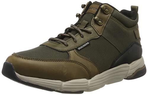 Skechers Herren Metco Klassische Stiefel, (Olive Brown Leather W/Mesh Ol Br), 40 EU