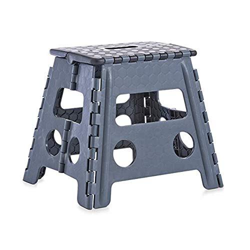 Jonas France - Escalera Plegable de plástico Resistente, 29 x 22 x 45 cm, con asa de Transporte y Taburete Auxiliar: Amazon.es: Hogar