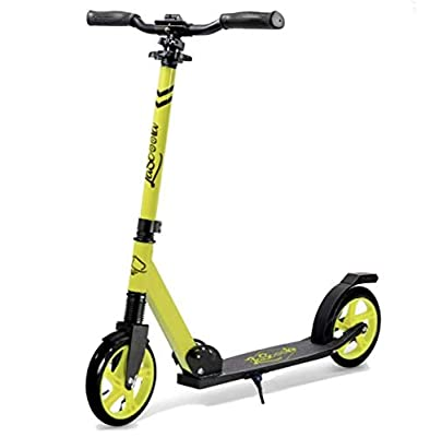 "Lascoota Scooters for Kids 8 Years and up - Quick-Release Folding System - Front Suspension System + Scooter Shoulder Strap 7.9"" Big Wheels Great Scooters for Adults and Teens (Yellow, Kids/Adults)"