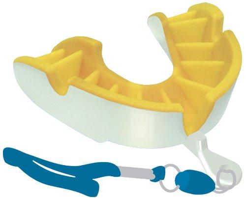 Opro Silver Zahnschutz (Strapped) White - Yellow