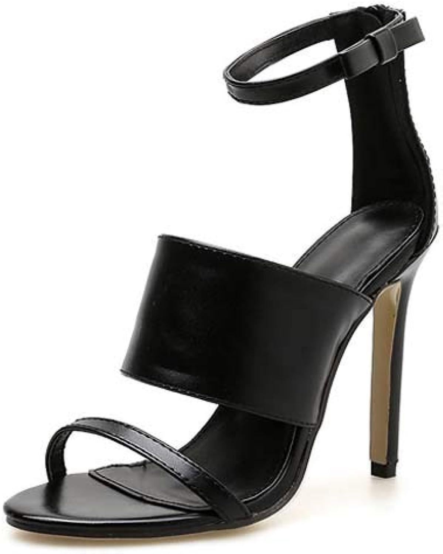 Wedges Sandals Womens High Peep-Toe Heel Ankle Strap Buckle Ladies shoes