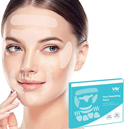 Face Wrinkle Remover Strips, Reusable Anti-Wrinkle Face Pads, Face Tape Smoothing Wrinkle Patches for Forehead Wrinkles, Eye Wrinkles and Mouth & Upper Lip Wrinkle, Wrinkles Treatment, Set of 256pcs