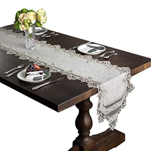 Tafelloper Eenvoudige Franse kant Overlay met Wedding Party tafellopers Tafelkleed-4.13 (Size : 40 * 250cm)