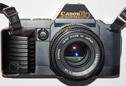 Canon T70 für 24x36 Diafilme - Spiegelreflexkamera mit Objektiv Canon Lens FD 50mm 1:1.8 - Technik geprüft ok by LLL