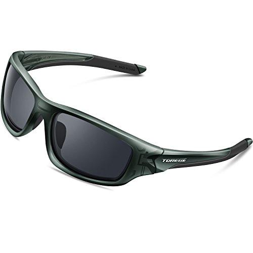 TOREGE Polarized Sports Sunglasses for...