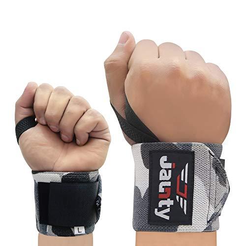 JAUNTY Handgelenk bandagen [Wrist Wraps] 45cm lange Handgelenk band für Fitness, Handgelenk Unterstützung, Bodybuilding, Kraftsport & CrossFit für Männer & Frauen