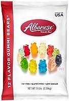 Albanese World's Best 12 Flavor Gummi Bears, 5 Pound Bag