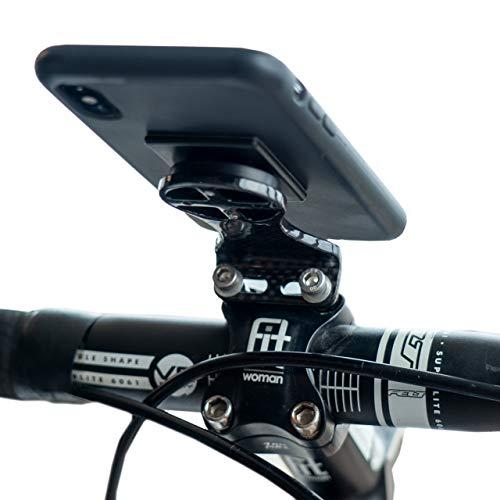 Carbon Fiber Bike Stem Phone Mount - Carbon Bike Computer Mount - Handlebar Phone Mount - Lightweight Bike Phone Holder (Carbon Mount)