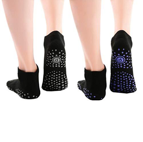 Women's Yoga Socks Non Slip Skid Ankle Toe Socks for Yoga Series Pilates Dance Sport (2 Packs) 3#