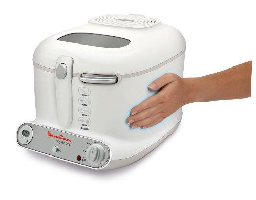 Moulinex AM3021 Fritteuse Super Uno / 1.800 Watt / Timer / wärmeisoliert / 1,5 kg Fassungsvermögen / weiß/hellgrau - 4