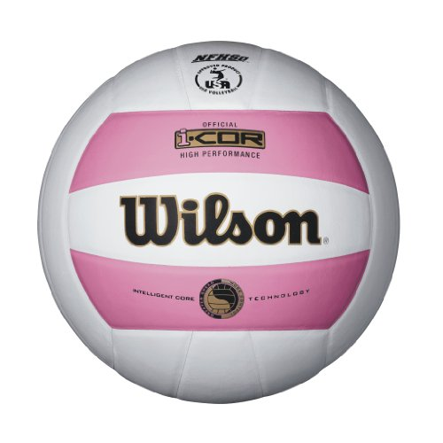 Wilson I-COR High Performance Indoor Volleyball (Pink/White)