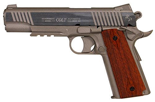Airsoft Pistol-Cybergun 180315-Colt 1911 Schiene Gun Stainless CO2 Nachbildung-festes Joch- Leistung 0,5 Joules