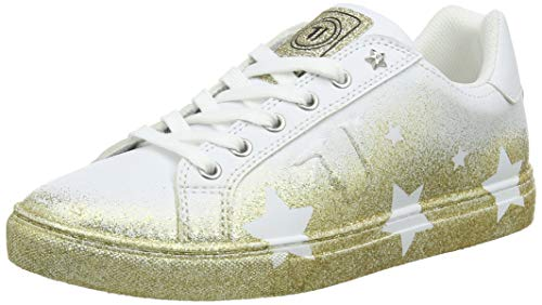 Trussardi Jeans Women's Sneakers Gymnastics Shoes, (Metal Gold M050), 5 UK