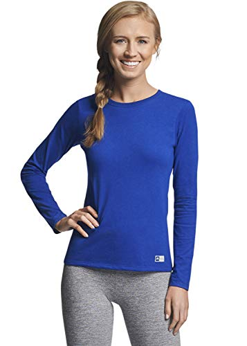 Russell Athletic Damen Essential Long Sleeve Tee T-Shirt, königsblau, X-Klein