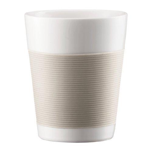 Bodum 10109-13 Tasse doppelwandig 0.2 Liter Canteen,Creme-Weiss