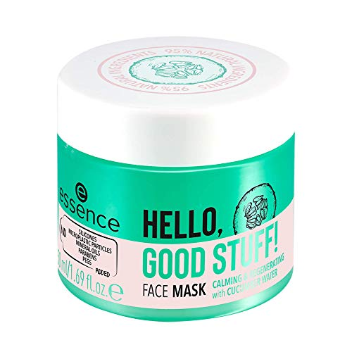essence   HELLO, GOOD STUFF! Face Mask   Refreshing, Calming & Energizing Jelly Skin Care for All Skin Types   Vegan & Cruelty Free   Gluten Free & Made Without Parabens & Oil