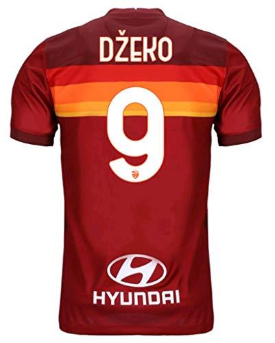 2020-2021 Men's Home Soccer Jersey/Short Colour Red (Roma Dzeko #9 (L))