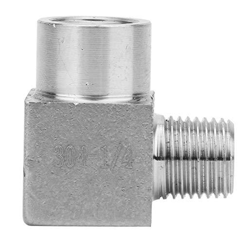 Conector de codo Conector reductor de conector rápido sin fugas para tuberías de agua para tuberías(1/4')