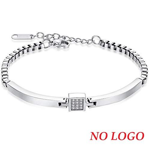 IFABIT Persoonlijke Naam Rose Goud Vrouw Crystal Armbanden Graven Naam RVS Armband & Bangle Sieraden Gift