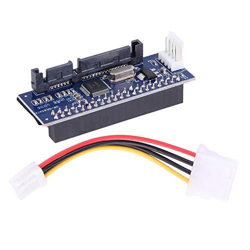 QiKun-Home 3.5 HDD IDE/Pata to SATA Converter Add On Card Adapte para Disco Duro IDE de 40 Pines, grabadora de DVD a SATA 7pin Data Systems Azul