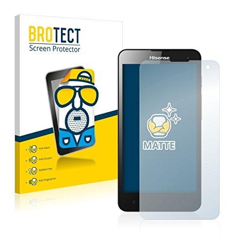 2X BROTECT Matt Bildschirmschutz Schutzfolie für Hisense HS-U971AE (matt - entspiegelt, Kratzfest, schmutzabweisend)