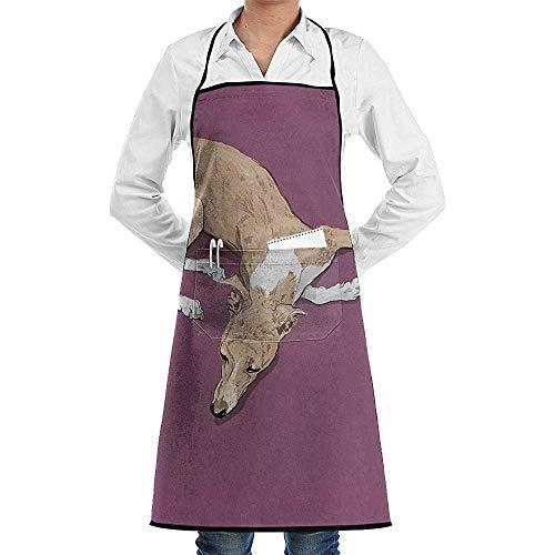 Sunday Delantal de Chef de Cocina Unisex Ajustable con Bolsillos para cocinar Hornear Elaboración Jardinería y Barbacoa