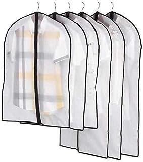 Elegant YAY - Funda protectora para ropa con cremallera translúcida, 5 piezas (45 x 60, 60 x 80, 60 x 100, 60 x 120, 60 x ...