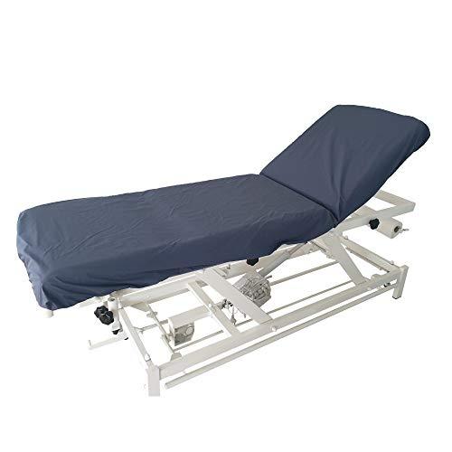 Drap housse élastiqué de protection pour table médicale, kiné, massage, imperméable et désinfectable (Gris Anthracite)