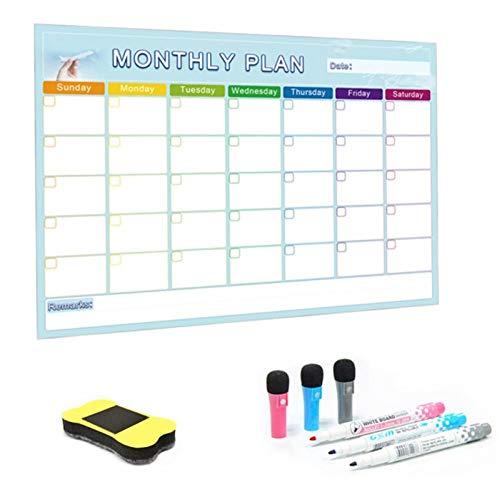 Qkdop A3 maandplanner magnetisch whiteboard message board voor school Home bulletin memoboards koelkast magneet kalender 30 * 42 cm
