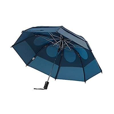 GustBuster Metro Automatic Folding Umbrella Windproof, Compact & Portable 43-Inch with (Navy)