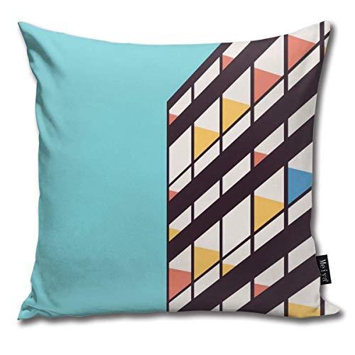 Funda de almohada decorativa Le Corbusier para decoración del hogar, cuadrada, 45,7 x 45,7 cm