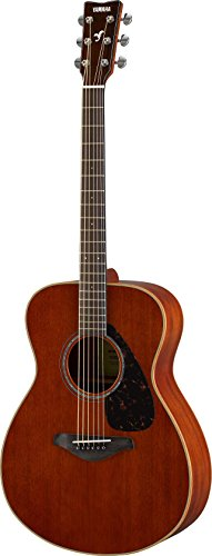 Yamaha FS850 Small Body Solid Top Acoustic Guitar, Mahogany